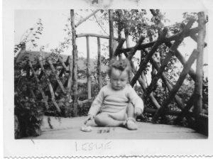 Les in Bedford 1954