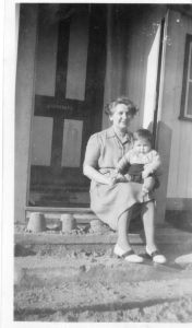Nannie (Elizabeth Henderson) and Geoff Walke 1948 at Eccles Beach Norfolk