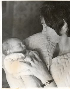 Christian at one day old with Leigh Sept 27th 1973 Ellesmere Port