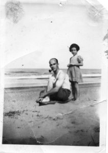 Cyril Eileen Walke at Eccles Beach Norfolk 1948