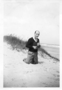 Dad (Cyril Walke) Eccles Beach 1949