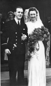 Marriage of Cyril Walke and Ivy Davies 2nd May 1942 at St Luke's Church Bedford